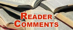 'Captain' Reader Comments That We've Gotten